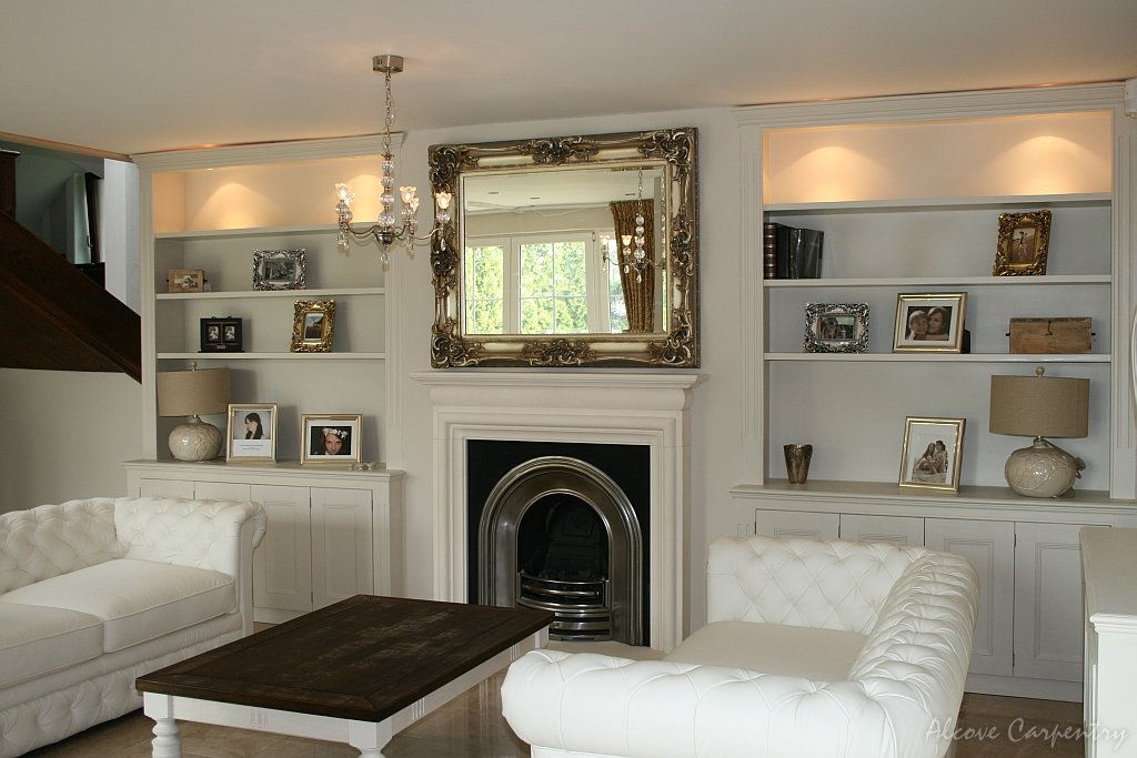 Incredible Living Room Alcove Storage Ideas