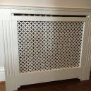 Radiator cover with orslow grill